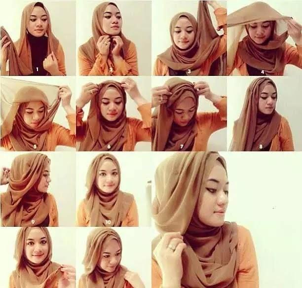 Tutorial Hijab Segi Empat Pashmina
