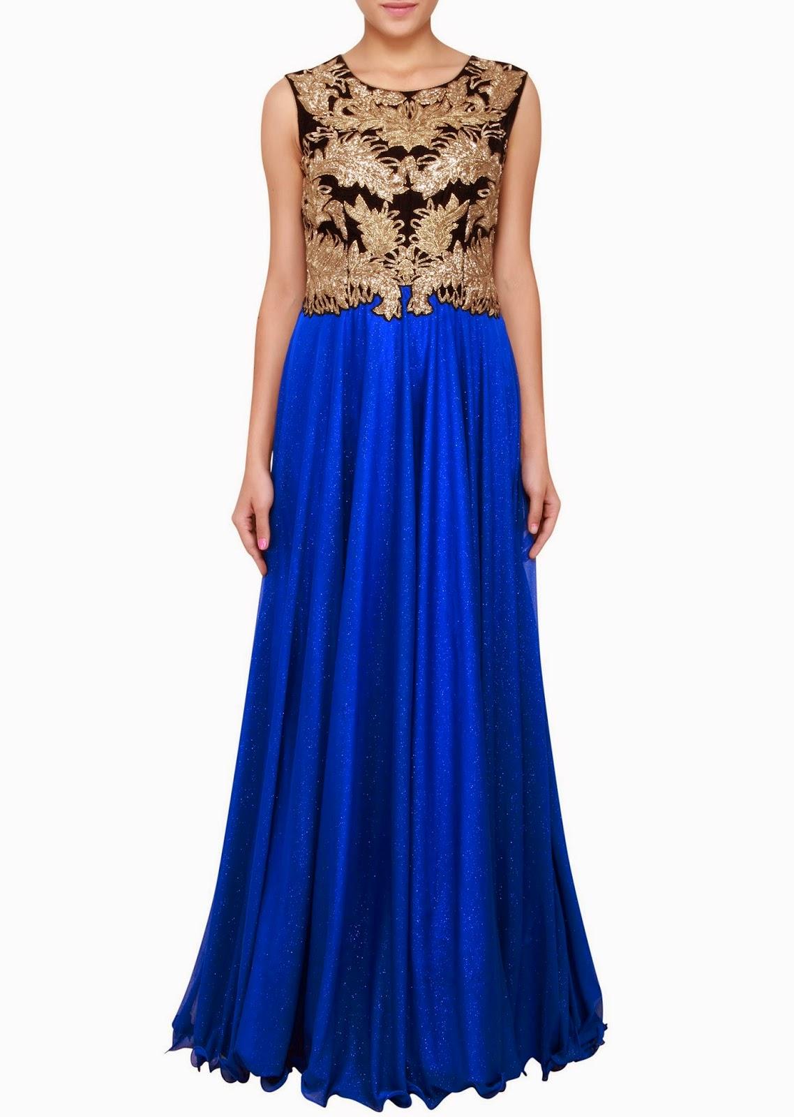Indowestern Lehenga and Floor Length Party Dresses 2014 ...