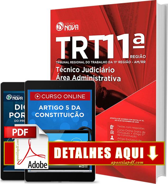 Apostila TRT AM 2016 Técnico Judiciário Área Administrativa Impressa