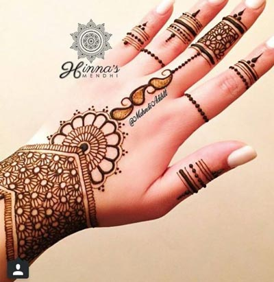 Voguish Mehndi Designs For Hands