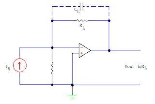 current to voltage converter using op amp
