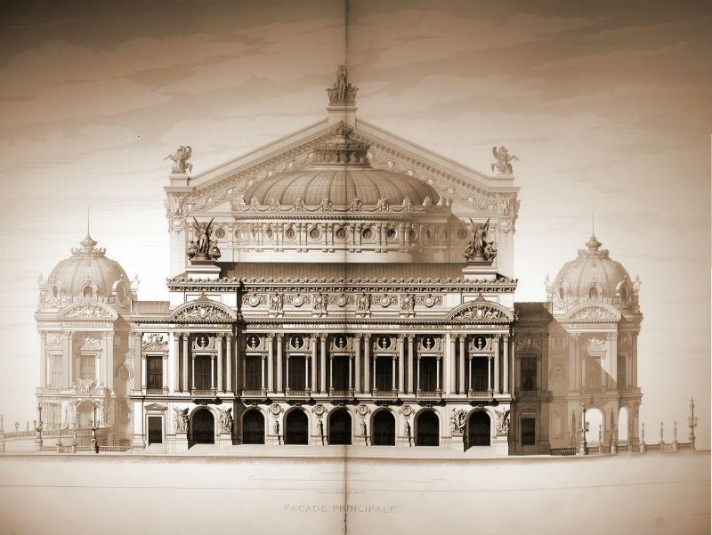 Fachada principal de la Ópera Garnier