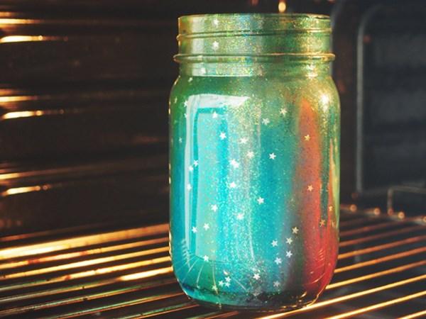 Mason jar galaxie