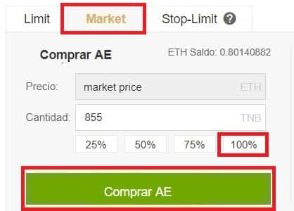 Comprar la Moneda Virtual Aeternity (AE)