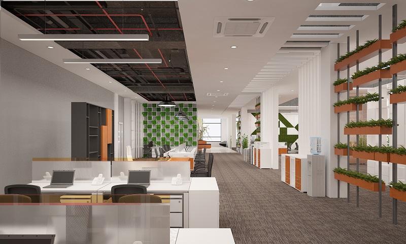 Thiết kế văn phòng Hà Nội kiểu mở tạo đẳng cấp