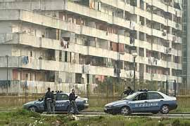 Police raids are a regular feature of life in the run-down Secondigliano district of Naples