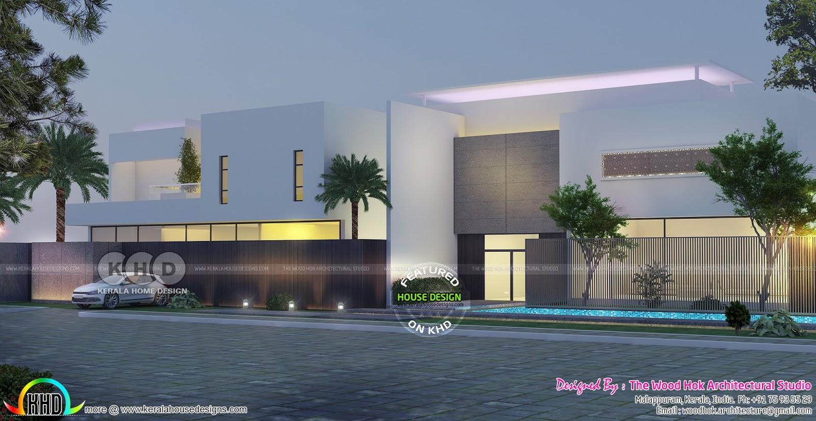 Modern Flat Roof Luxury Home 500 Square Meter Kerala Home