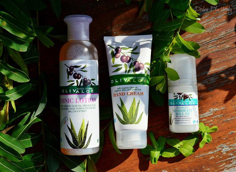 Naturalne greckie kosmetyki - tonik do twarzy, krem do rąk i dezodorant OlivaAloe