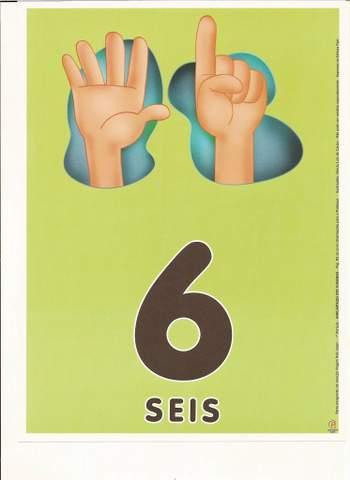 Cartazes de Numerais | Número seis