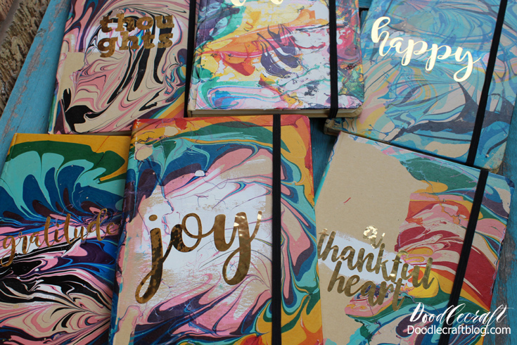 Marbled Paper Notebook Diy Tutorial