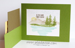 Stampin' Up! Waterfront Landscape Fun Fold Card for #GDP187 ~ www.juliedavison.com