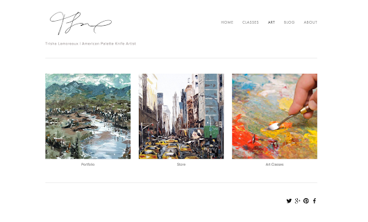 Palette Knife Paintings: My New Website is live!