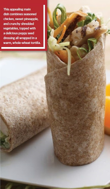 Crunchy Hawaiian Chicken Wrap Recipe