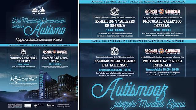 Cartel de las actividades con motivo del Día Mundial de Concienciación sobre el Autismo