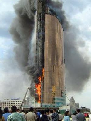 пожар фасада