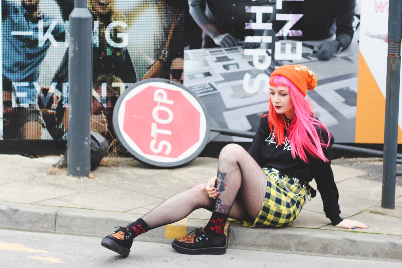 Alternative Fashion Blogger Foxxtailz Styles hidden fashion yellow tartan skirt
