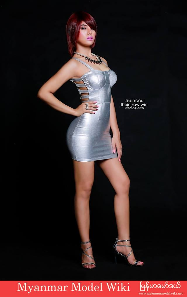 Shin Yoon Myat Myanmar Model in Alan Studio Photoshoot