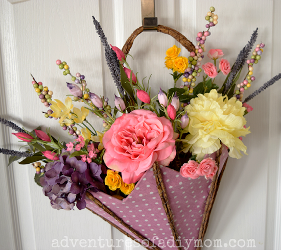 Adventures of a DIY Mom - Spring Front Door Decoration