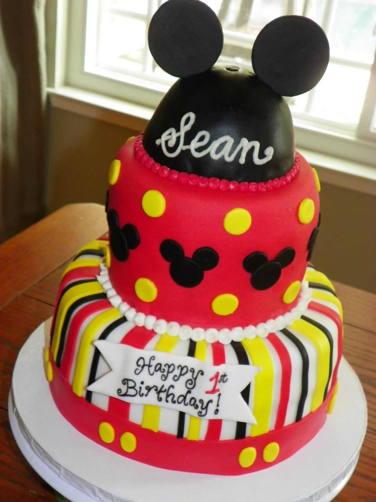 Plumeria Cake Studio Mickey Mouse Birthday Cake