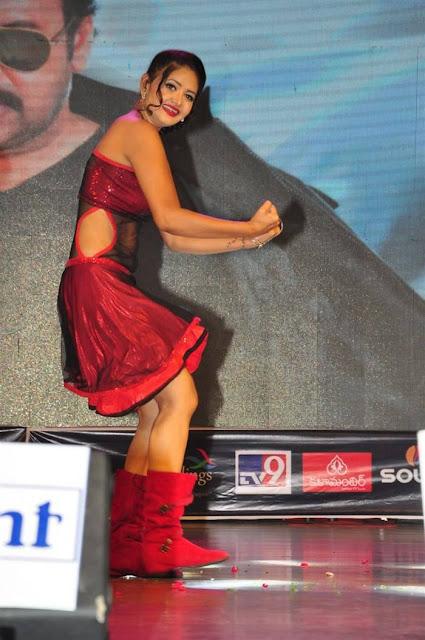 Shreya Vyas Latest Hot Cleveage Spicy Red Sleveless Skirt PhotoShoot Images At Chiranjeevi Birthday Celebrations