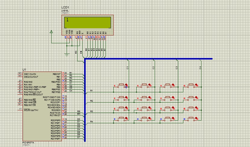 keypad interfacing with pic16f877a | De basic embedded learning