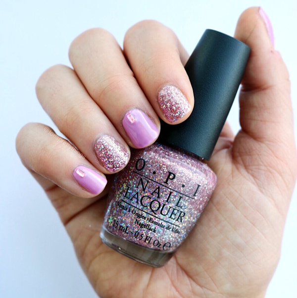 OPI Lucky Lucky Lavender Spring Nail Art  - Tori's Pretty Things Blog