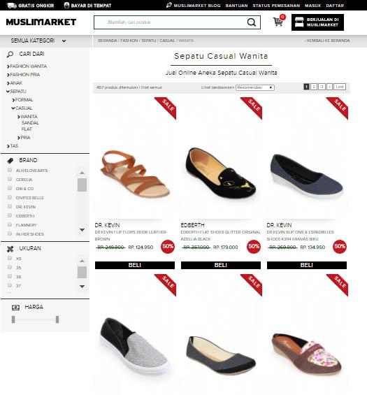 Cari Sepatu Casual? Muslimarket Tempatnya