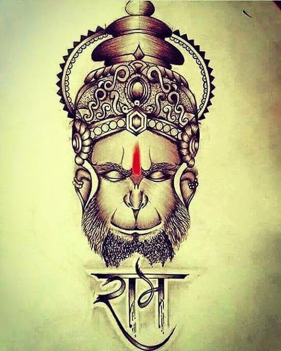 drawing hanuman images