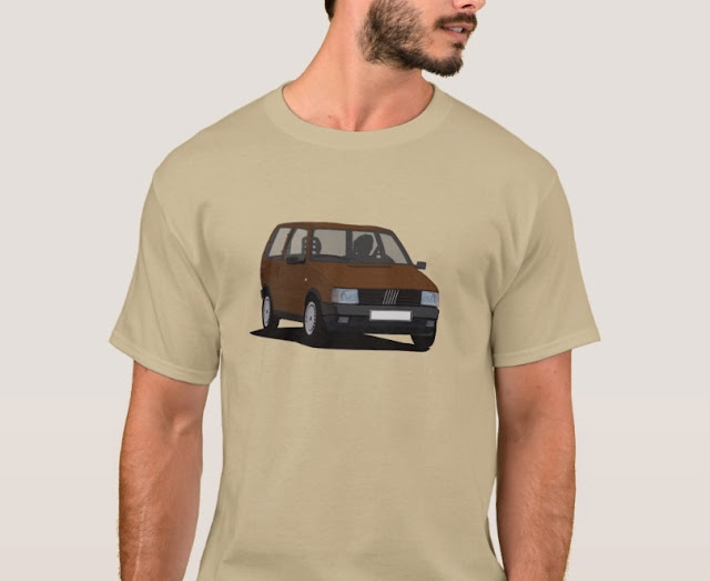 Fiat Uno MK1 T-shirt retro brown