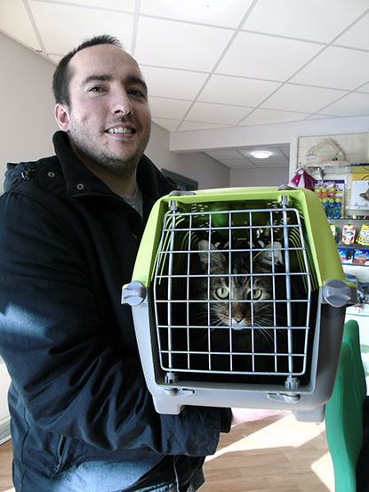 Cat reunited with happy owner after two weeks