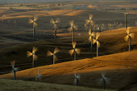 Wind turbines in California. (Credit: AP/Noah Berger, File) Click to Enlarge.