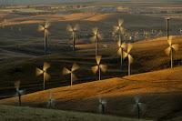 Wind turbines in California. (Credit: AP/Noah Berger, File) Click to Enlarge.