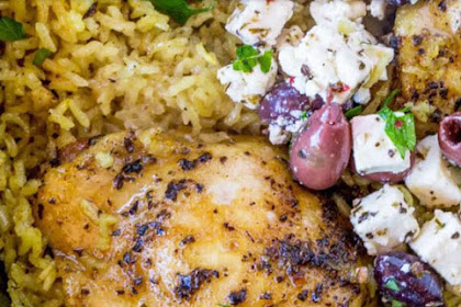 One Pot Greek Mediterranean Chicken and Rice