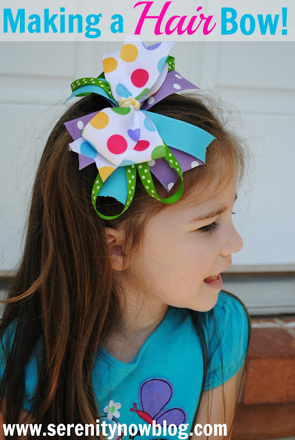 How to Make a Stacked Hair Bow Serenity Now blog