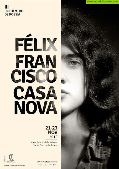 El Cabildo promociona la literatura juvenil y el Premio Félix Francisco Casanova con el III Encuentro Literario en memoria del poeta