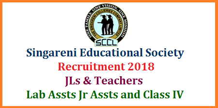 Singareni Educational Society Recruitment for High School Teachers Jr Lecturers and Staff Download Application Form  The Singareni Collieries Educational Society (SCES) inviting filled Application Forms for the Posts of Junior Lecturers School Teacher Posts Lab Assisstants Jr Asst and Class IV Employees in the Schools Applications from qualified candidates are invited through the proforma Application made available on SCES websites www.scesociety.com or www.scwdegreeandpgcollege.com for the posts of Teaching and Non-Teaching staff on contract basis in schools/colleges run by SCES. Interested candidates will have to apply by downloading the application form from the above websites. Detailed guidelines are placed on the websites. The candidate will have to thoroughly read before filling-in the application. The candidates who possess requisite qualifications ONLY may apply in accordance with the terms and conditions of this recruitment notification. singareni-educational-society-JLs-Teachers-lab-junior-assisstant-application-form-download