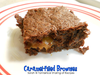 Caramel-Filled Brownies | Homemade brownies with a layer of rich, creamy caramel in the middle. Brownies will never be the same again! #recipe #dessert