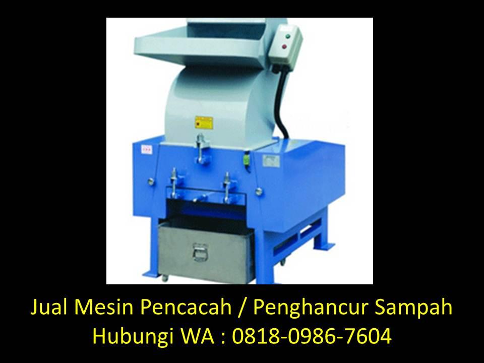mesin pencacah limbah organik di bandung