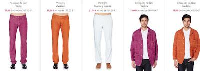 pantalones chaquetas lino