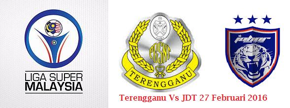 siaran langsung Terengganu Vs JDT 27 Februari 2016