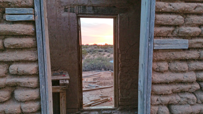 Rural Exploration of Abandoned Adobe House Ruins in Dateland, Arizona