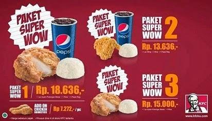 daftar harga menu kfc,menu kfc dan harga,harga makanan kfc,