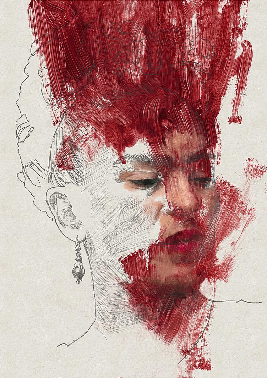 Portrait 257 Frida Kahlo