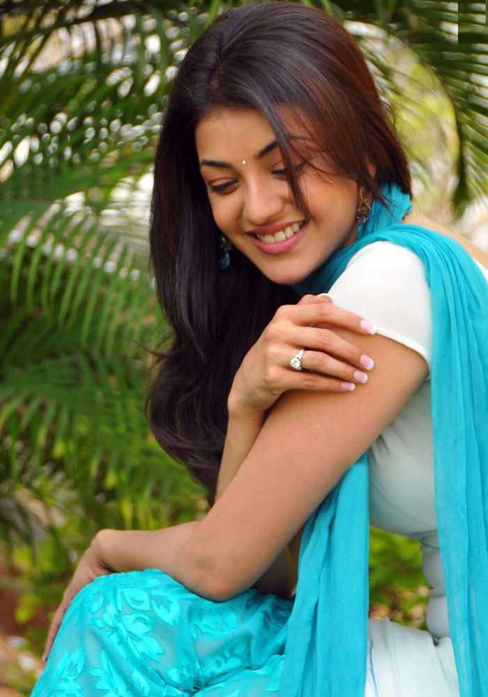 kajal Agarwal Photos In Blue Punjabi Dress