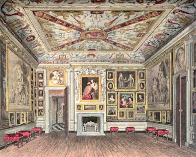 The Prescence Chamber, Kensington Palace, from The History  of the Royal Residences by WH Pyne (1819)
