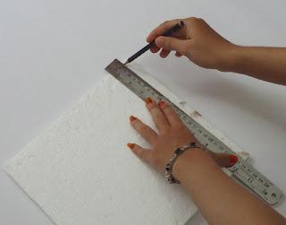 pengukuran dan pemotongan stirofom