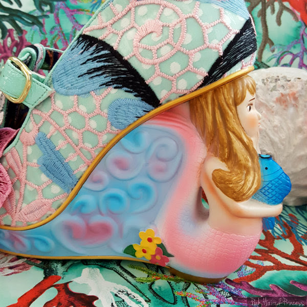Irregular Choice Aquata mermaid heel flower detail