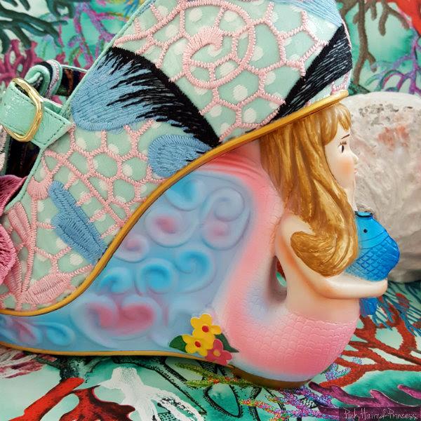 Irregular Choice Aquata mermaid heel flower detail
