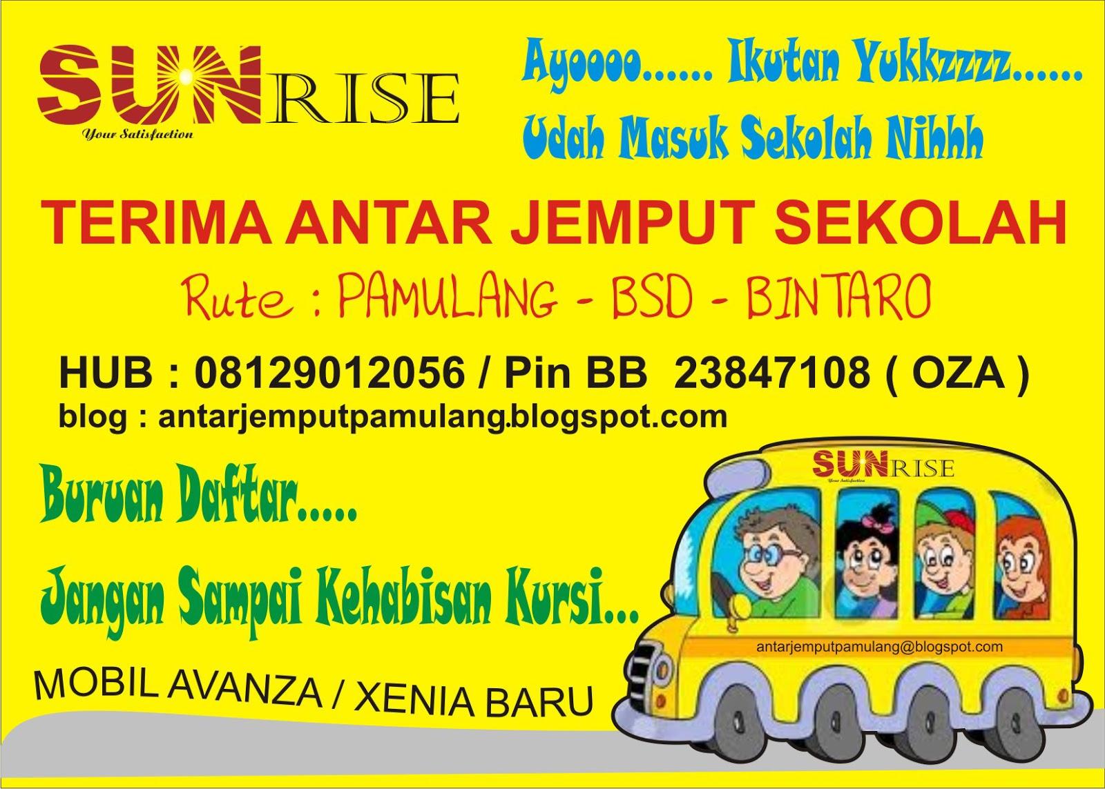Antar Jemput Sekolah Pamulang Bsd Bintaro