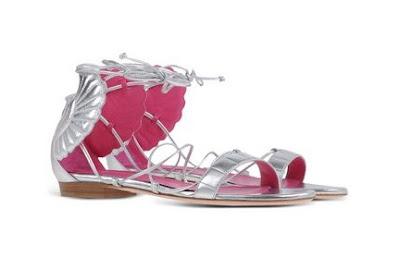 Oscar tiye flat metallic malikah sandal
